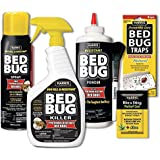 Harris Bed Bug Killer Value Bundle Kit - 32oz Bed Bug Killer, 16oz Aerosol Spray, 4oz Silica Powder w/Brush, 4-Pack Bed Bug Detection Glue Traps and Bed Bug Bite Relief Gel