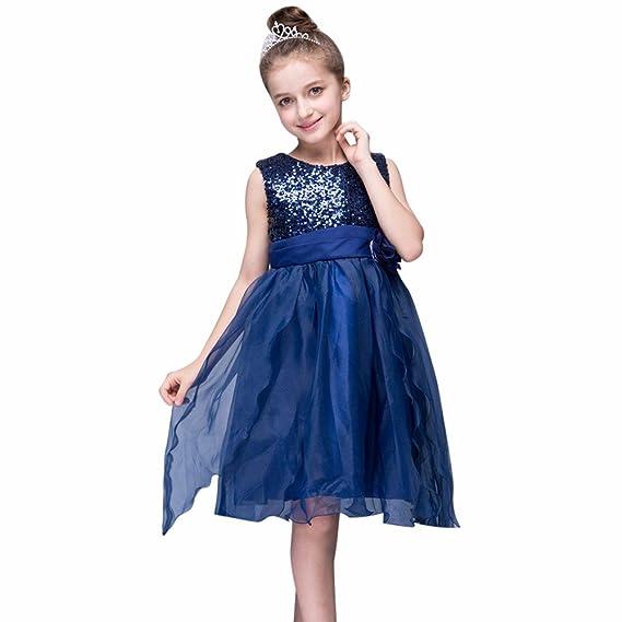 Kinder Baby Mädchen Kleid Ulanda Festlich Kinderkleid Blumensmädchenkleid  Geburtstag Festzug Hochzeit Pailletten Prinzessin Kleid Tutu Tulle 7e90cbcd96