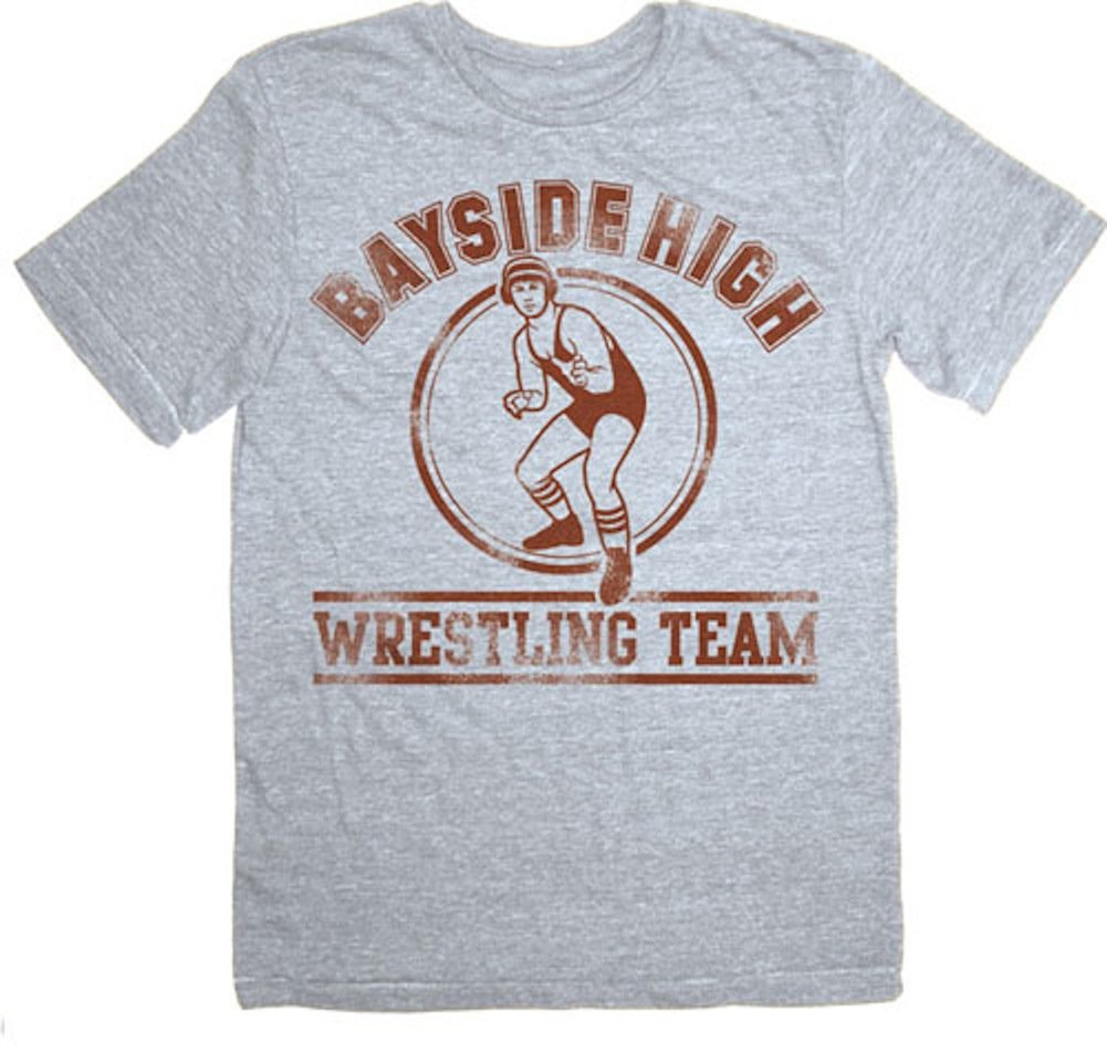 Saved by the Bell Bayside High Wrestling Team Gray T-shirt Tee by Saved By The Bell