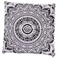 26x26 Euro Pillow Shams, Decorative Cushion Cover, Large Meditation Pillow, Ethnic Floor Cushion, Boho Mandala Pillow Cases