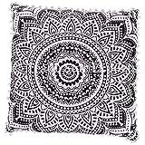 26x26 Euro Pillow Shams, Decorative Cushion Cover, Large Meditation Pillow, Ethnic Floor Cushion, Boho Mandala Pillow Cases (Pattern 1)