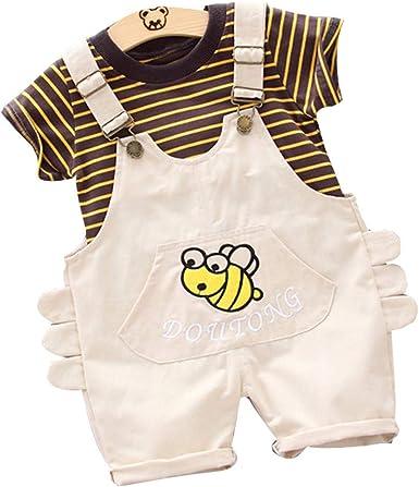 FELZ Ropa Bebe Niño Verano Recién Nacido 6 Meses a 3 Años Camiseta de Manga Corta Estampada con Dibujos Animados + Pantalones Cortas de Liga Conjunto de ropa/2pc Original Fiesta Ropa: Amazon.es: