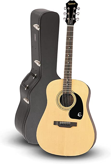 Epiphone DR-100 guitarra acústica natural con funda Road Runner ...