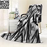 Throw Blanket Safari Cat Expression Opposite s Fearsome Teeth Mirror Angry Intense Wildlife Warm Microfiber All Season Blanket for Bed or Couch