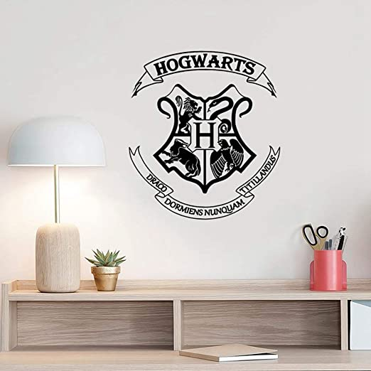 etiqueta de la pared decoración Hogwarts Decoración de la ...