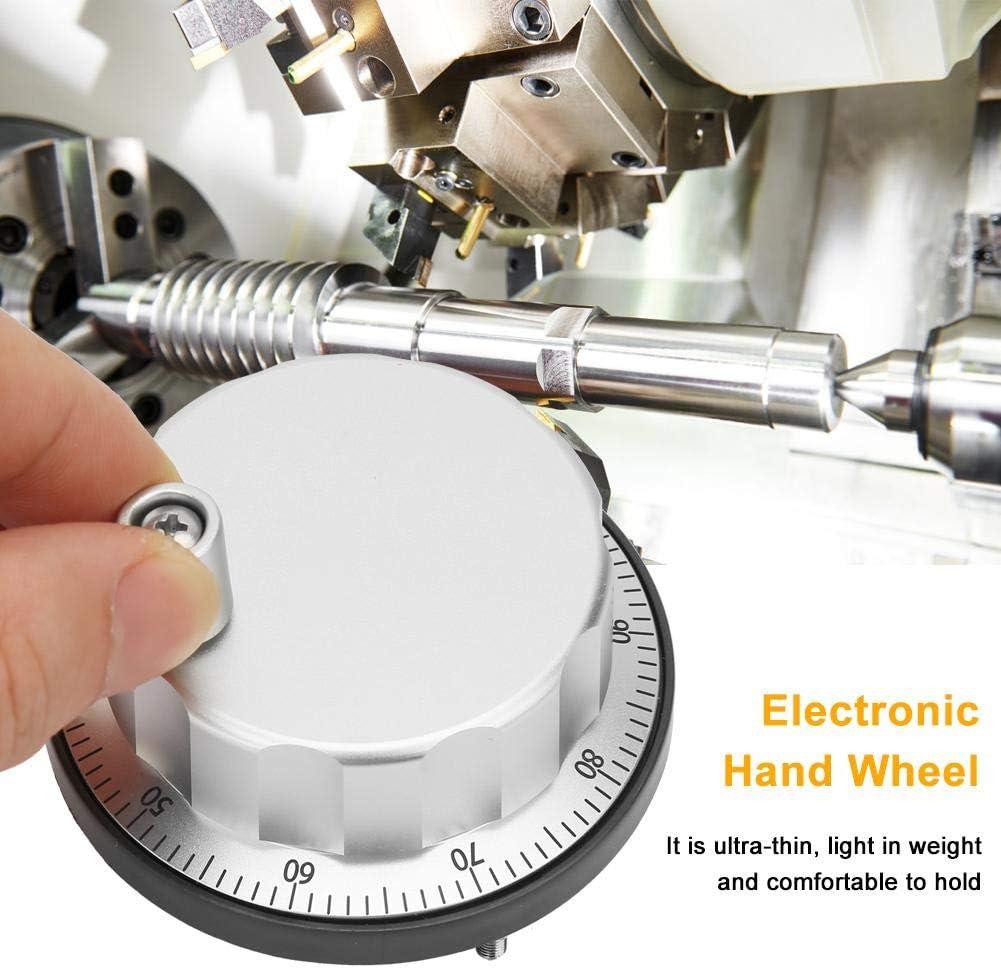 Bewinner CNC-Drehgeber Aluminiumlegierung Ultra D/ünn 5V Universal Elektronisches Handrad 100 Manueller Impulsgeber CNC-Encoder
