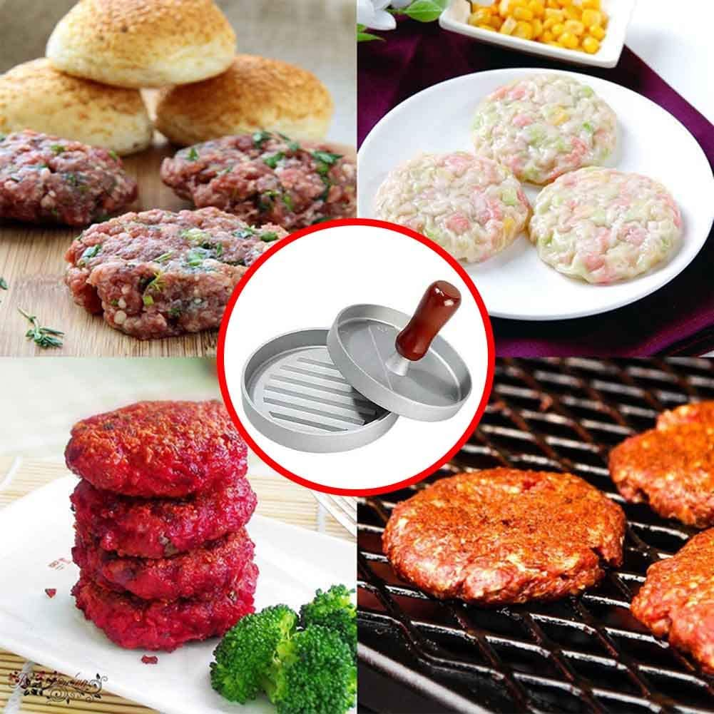 SD Beauty/&More Non-Stick Burger Press Aluminum Hamburger Patty Maker with 100 Wax Papers for BBQ Grill DIY Kitchen Gadgets