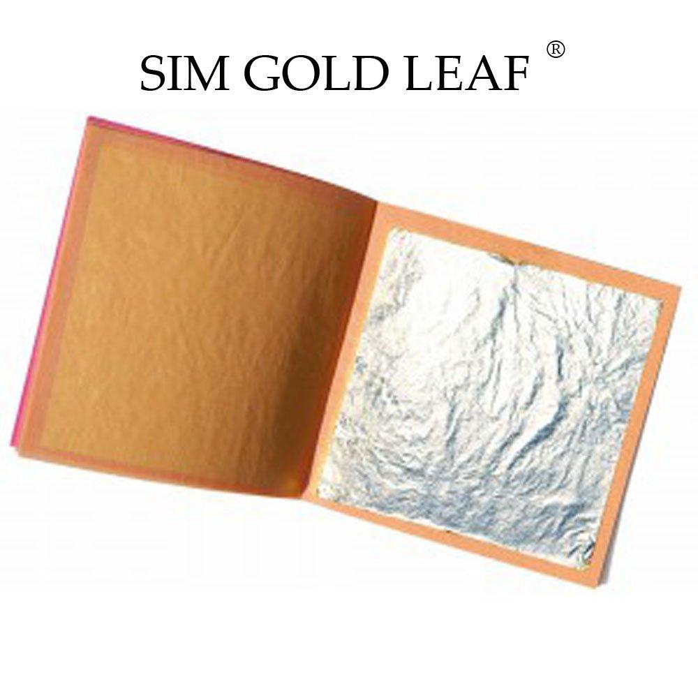 Loose Leaf//InterLeaf Sheets sim gold leaf Professional Quality Genuine EDIBLE Silver Leaf Sheets 25 Sheets Super Large 4-2//5 inches
