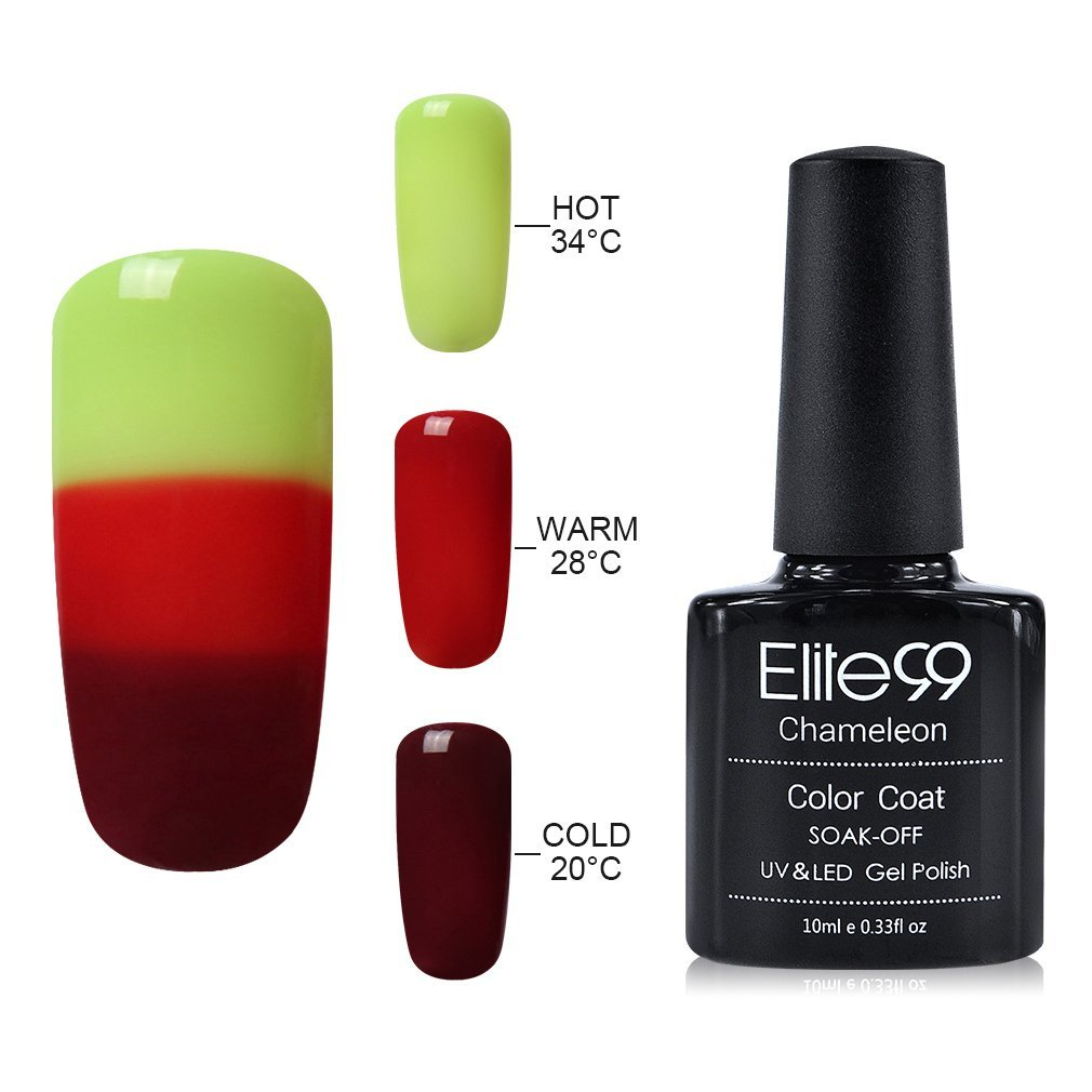 Elite99 Temperature Colour Changing Gel Nail Polish 10ML Soak Off UV ...