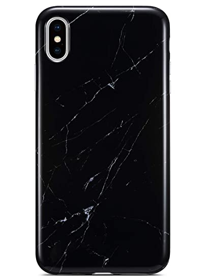 98b4728fbada0 Coolwee iPhone Xs Max Case,iPhone Xs Max Marble Case Slim Glossy Black  Marble Design for Women Girls Men Silicone Rubber Gel Bumper Soft TPU Case  ...