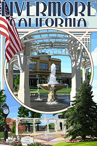 Livermore California Montage Travel Poster