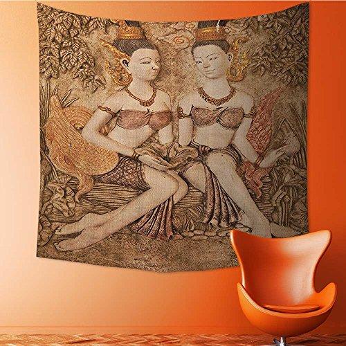 Nalahomeqq Sculptures Decor Collection - Tapiz de tela de microfibra para dibujo, diseño gótico con ilustraciones griegas,...