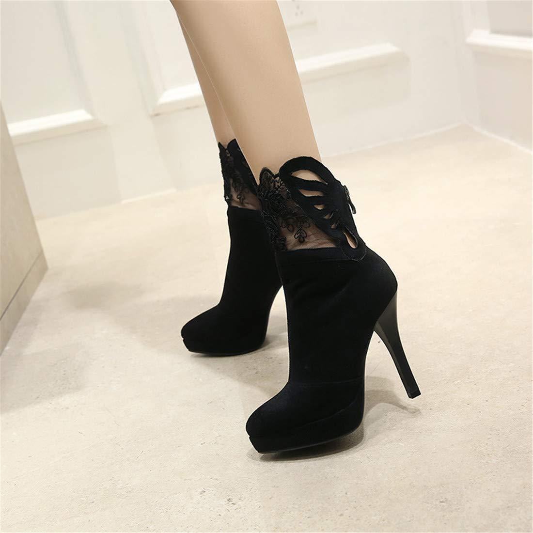 Stiefel-DEDE Stiefel   Mode Damenschuhe     Mode Spitze hochhackige Kurze Stiefel 79a004