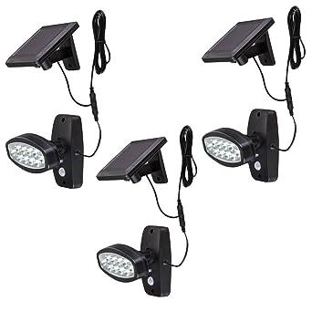 3 X Applique Led Luminaire Solaire Lampe Del Eclairage Detecteur De