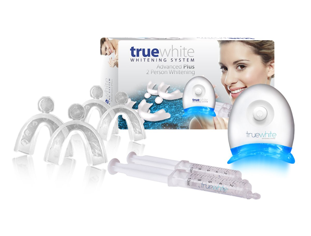 truewhite Advanced Plus Teeth Whitening System For 2 Person- Made in USA - No Sensitivity - Easy to Use Perfect Professional Teeth Whitening Kit- FDA Registered