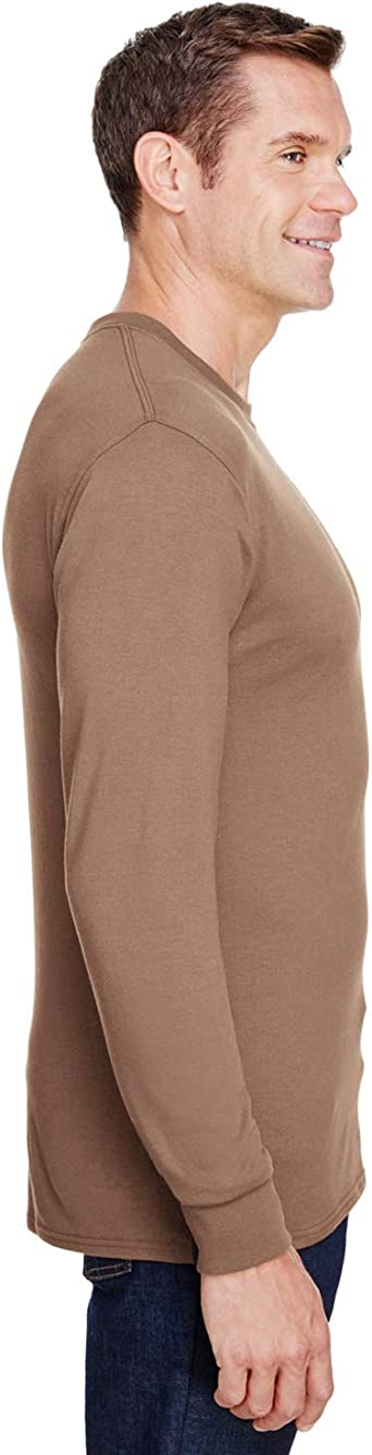 W120 Hanes Adult Workwear Long-Sleeve Pocket T-Shirt