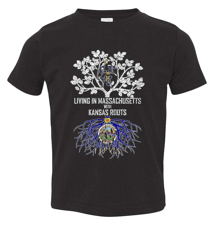Tenacitee Babys Living in Massachusetts Kansas Roots Shirt
