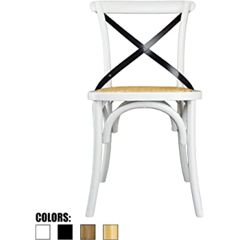 Good 2xhome White Mid Century Modern Farmhouse Antique Cross Back Chair With X  Back Assembled Solid Real