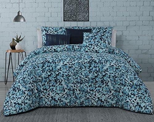 Geneva Home Fashion Avondale Manor Nessa 6-piece Comforter Set, Queen, Blue ()