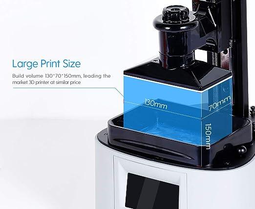 NOVA3D Elfin - Impresora LCD 3D de resina, rango de impresión de ...