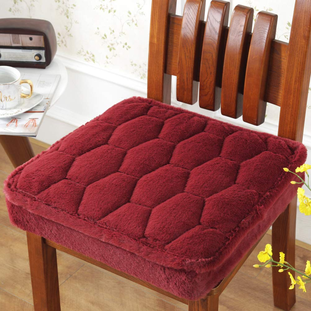 JiaQi Extra-thick chair pads,Booster cushion,Soft Cozy Sponge Tailbone pain Back pain For Dining Office Removable and washable-S 40x40x5cm(16x16x2inch)