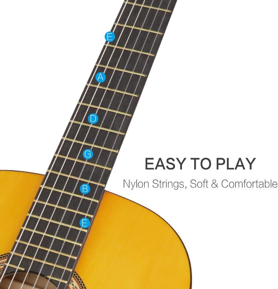 Guitarra Clásica Acústica 3/4 36 Pulgadas,Para Principiantes y ...