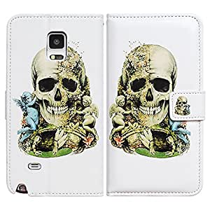 Bcov Skull Wing Boy Leather Wallet Cover Case For Samsung Galaxy S6 Edge
