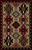 "Cheap Mayberry Southwestern/Lodge Rectangle Area Rug 7'10″x9'10"" Multi Color American Destination Collection"