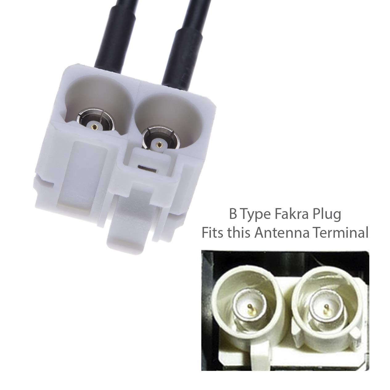 Double Fakra Vehicle Aerial Connector for 3rd Generation Radios in RCD MFD Radio RNS Dual Fakra Car Antenna Adapter by Keple Twin Fakra Adaptor RNS310