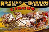 Ringling Bros and Barnum Bailey Vintage Circus Poster - 11 x 17 Inch Poster