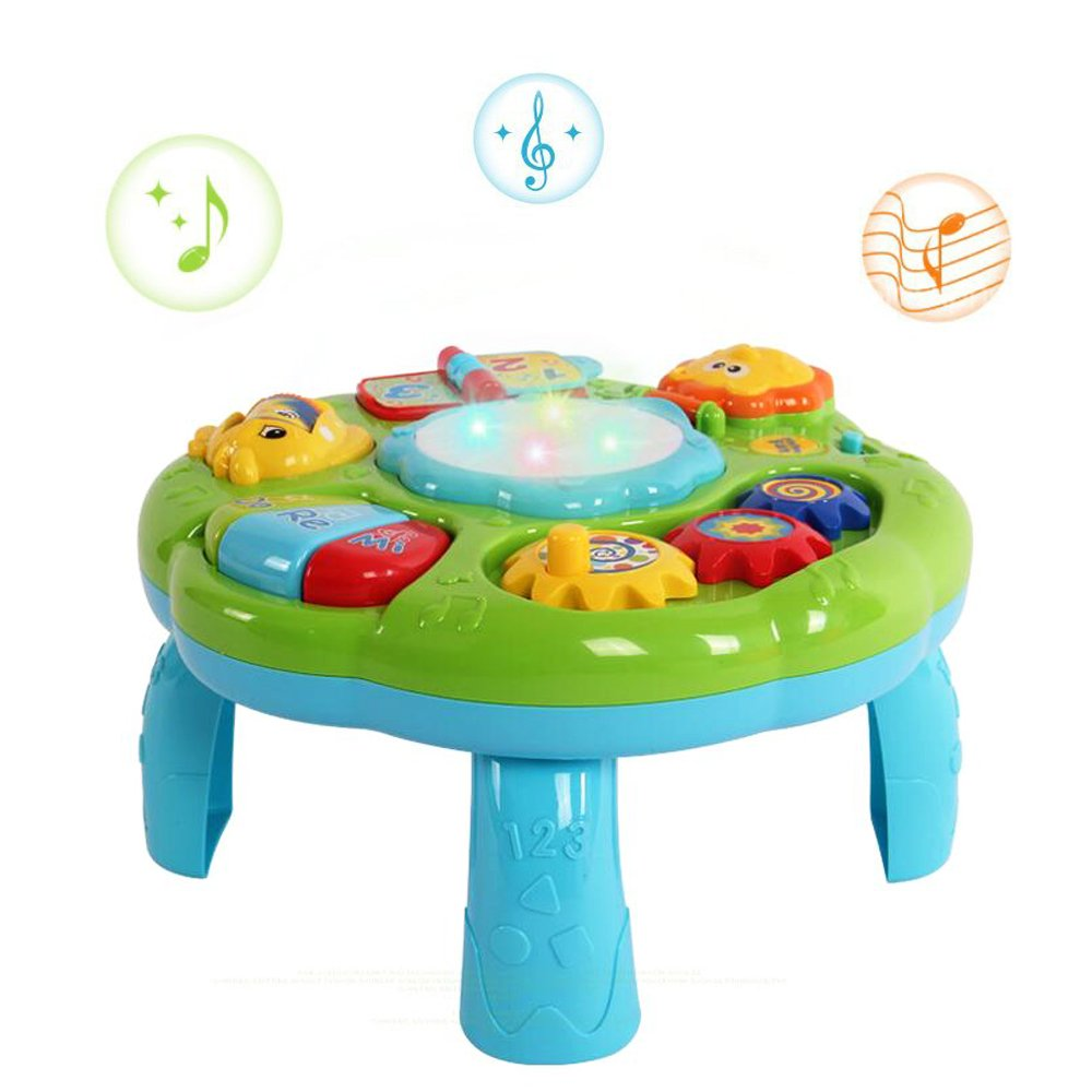 HANMUN Musical Learning Table Baby Toy - Electronic Education Toys Toddlers Early Development Activity Toy (Green) …