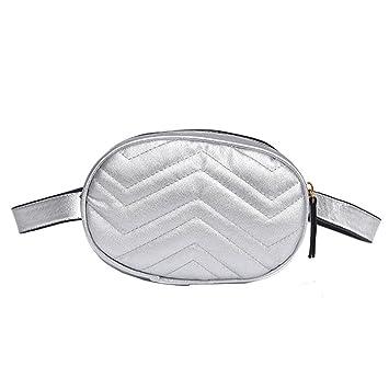 Amlaiworld_Bolsos mochila mujer rioneras Moda Deportes Moda de cuero bolso Pure Color de piel del pecho Gimnasio 16cm (L) * 7cm (W) * 12cm (H) de ...
