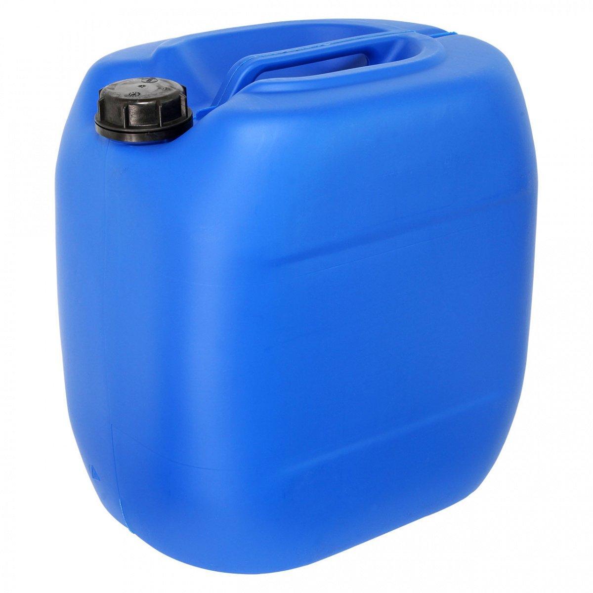 Kanister mit Schraubverschluss Volumen 30 Liter, Farbe Blau REKUBIK