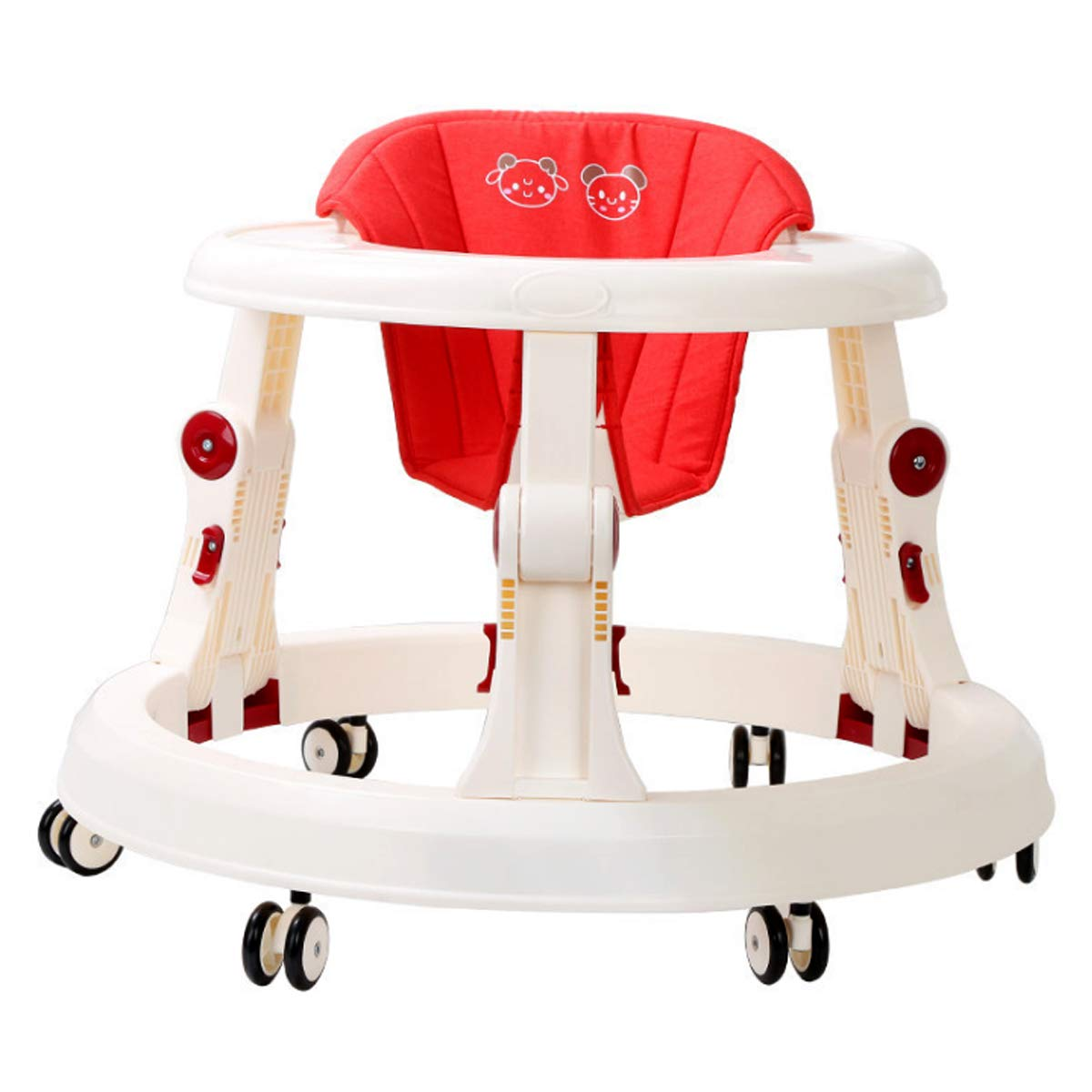Baby Walker with SIX Wheels Multi-Function Child Anti-Rollover One-Touch Folding Baby Walker Girls Boys Maximum Load 20 kg Made in Japan China