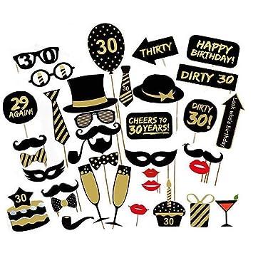 Photo Booth Prop, Kit d accessoires de fête 36pcs pour les décorations d  4cfa0f0ff53c