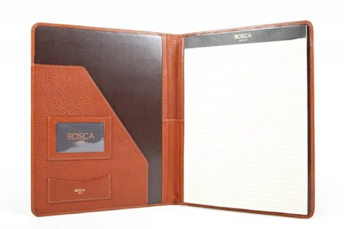 Bosca Correspondent Leather 8.5'' x 11'' Writing Pad Cover (Chesnut)