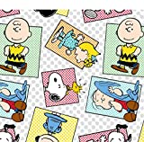 Charlie Brown & the Gang ~ Baby Blanket ~ Satin Edging