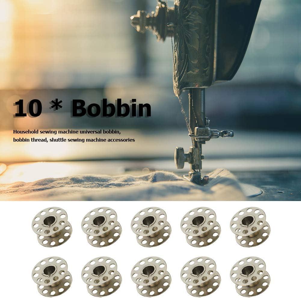 Sewing Machine Bobbins,10pcs Sewing Machine Shuttle Core Universal Bobbins Home Embroidery Stitching Needlework Tool