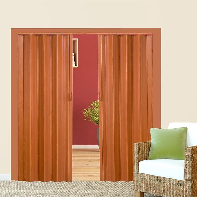 TecTake Puerta plegable de plástico 80 x 203 cm, PVC Puertas plegables, Puerta corredera - disponible en diferentes colores - (Teca | no. 401506): Amazon.es: Bricolaje y herramientas