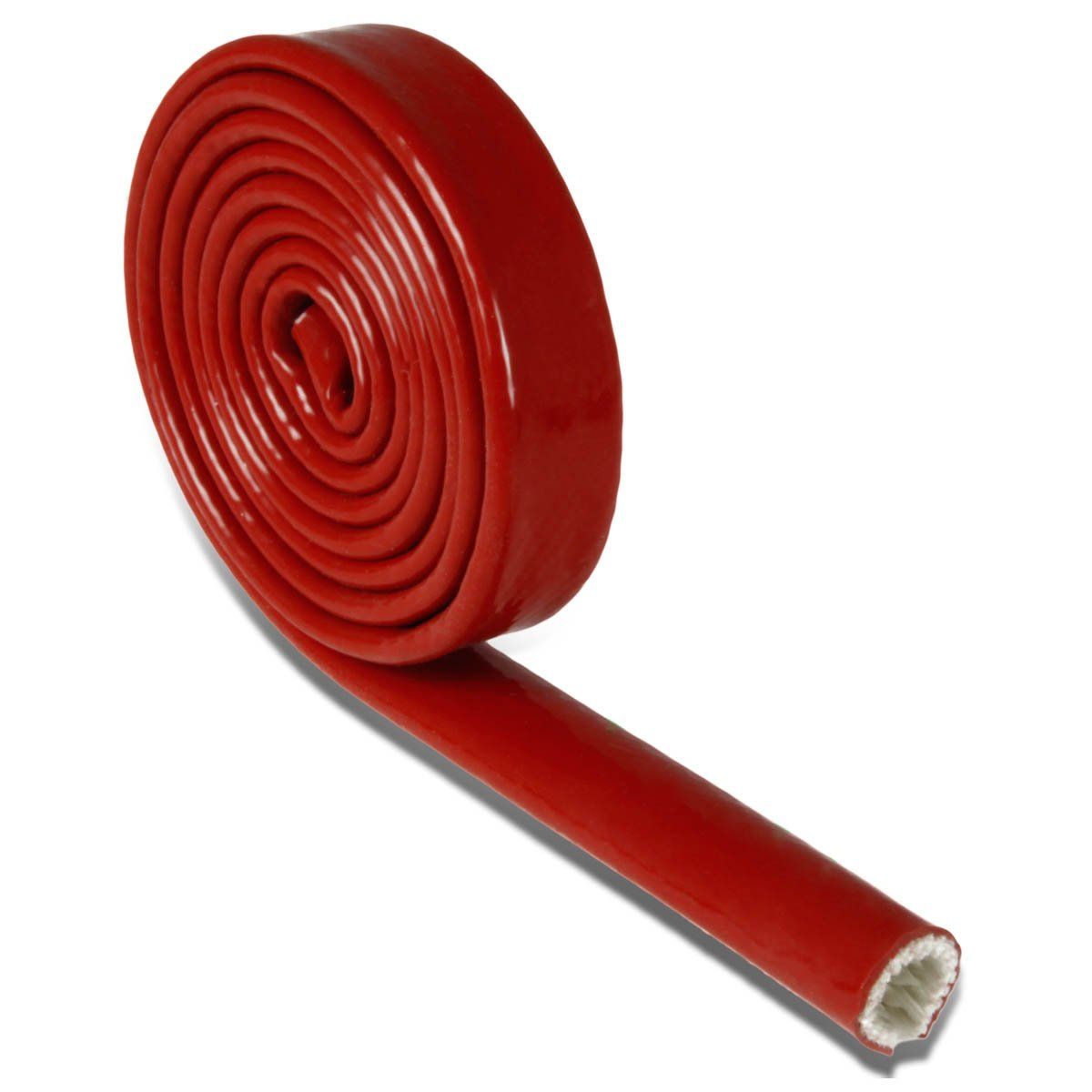 25mm X 10-Ft Red Heat-Shielded Fire Sleeve for Oil Fuel Lines /& Electrical Wiring