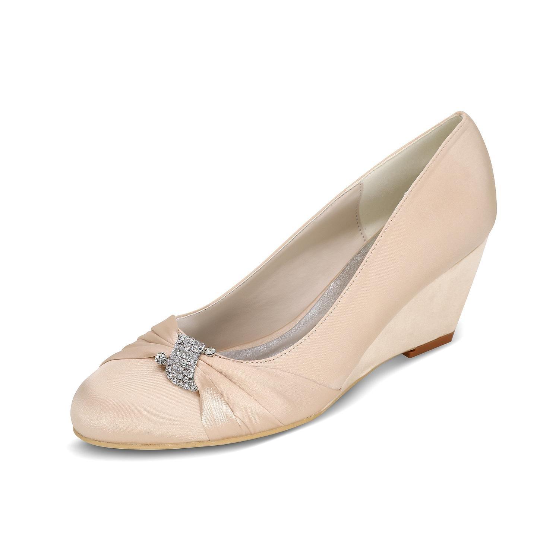 L@YC Keil-Hochzeits-Schuhe der Frauen 9140-22 Hochhackige Zehe-Ballett-Mehrfarbenschuhe