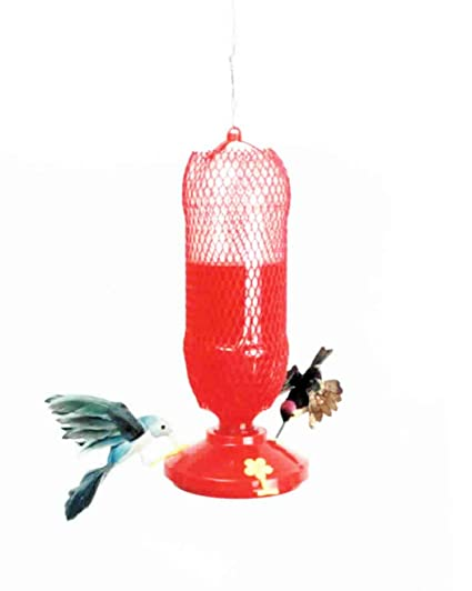 Gadjit Soda Bottle Hummingbird Feeders Kits Pack Of 2 Fill Plastic Soda Bottle With Nectar Twist Onto Feeding Tray Hang Outdoors Promote Plastic