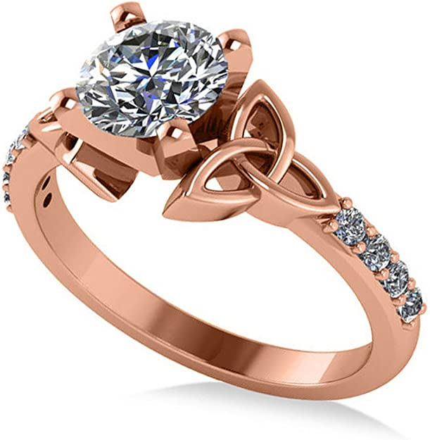 1//6 cttw, G-H,I2-I3 Diamond Wedding Band in 10K Pink Gold Size-5.25