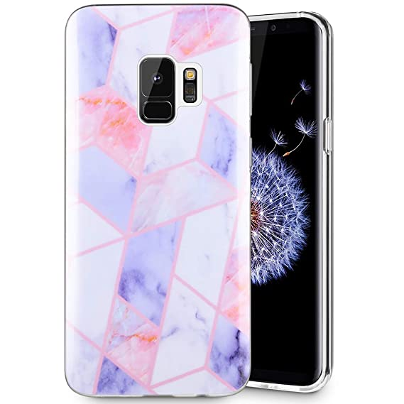 reputable site 354d5 95cca Caka Galaxy S9 Case, Galaxy S9 Marble Case Slim Anti Scratch Shockproof  Luxury Fashion Silicone Soft Rubber TPU Protective Case for Samsung Galaxy  S9 ...