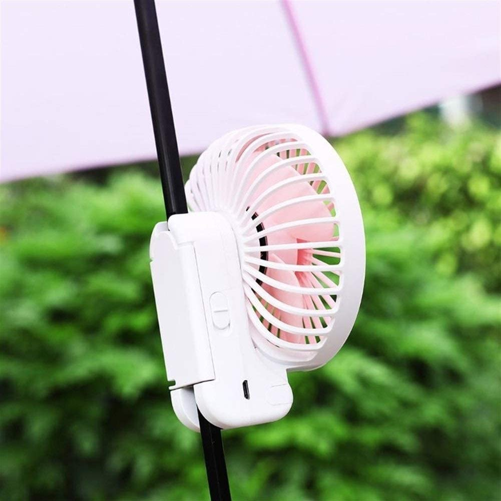 XIANGNAIZUI Portable USB Rechargeable Umbrella Hanging Fan Handheld Desk Mini Folding Fan Air Cooler Cooling for Office Outdoor Travel Color : Pink
