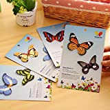 5 Bags/Lot (150 Pieces) Diy 3D Kawaii Cartoon Butterfly Paper Sticky Notes Cute For Home Decor Memo Pad^.