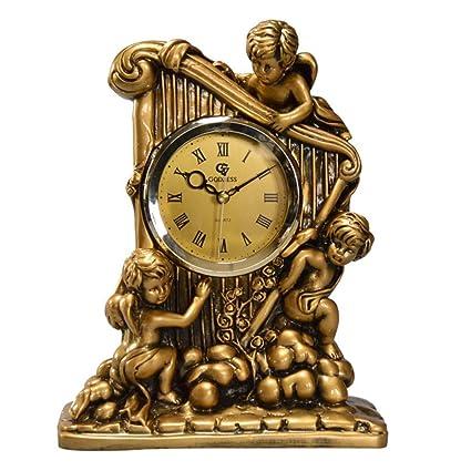 SESO UK- Diosa clásica Europea Reloj de Mesa Creativo Non-Ticking silencioso Escritorio de