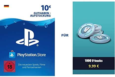 Psn Guthaben Fur Fortnite 1 000 V Bucks 1 000 V Bucks Dlc Ps4