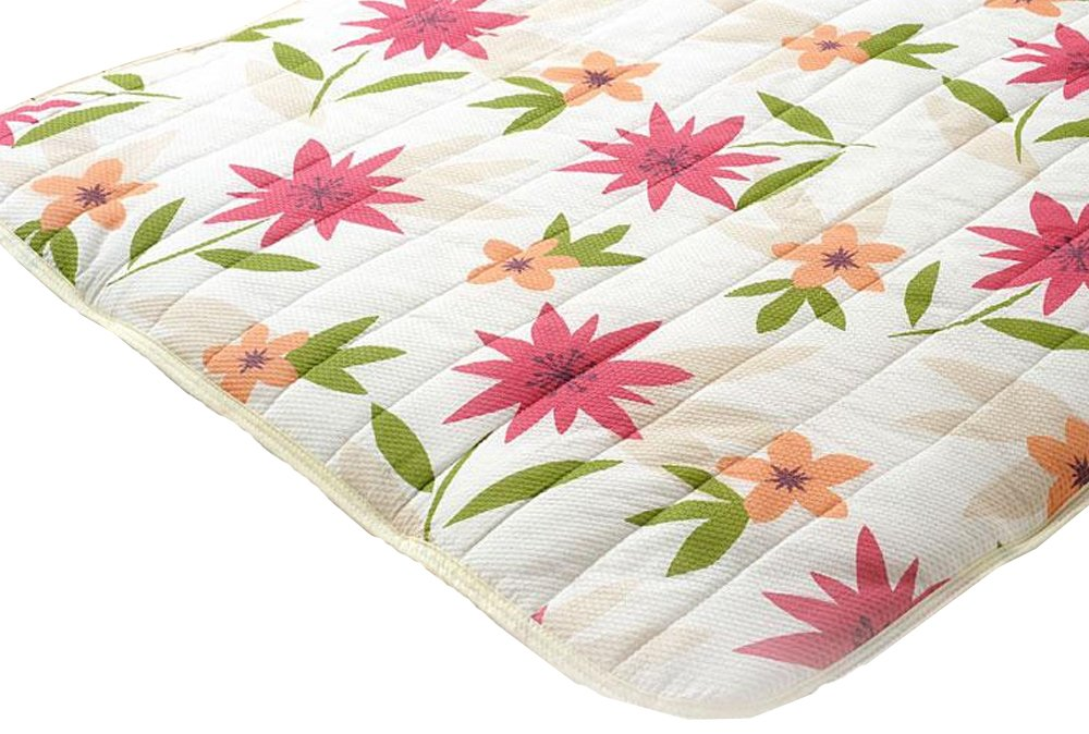 Comolife Cute Flower Embossiong Finished Bed Pad , Futon / Bed Protection Pad , Red , Size : 39 x 78 Inch