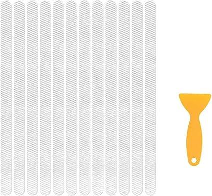 Yueming 24 Stuks Antislip Bad Stickers Strips Transparante Anti Slip Strips Antislip Douchesticker Doorzichtige Bad Veiligheid Stickers Veiligheidsstrips Voor Badkamer Douche Toilet Amazon Nl